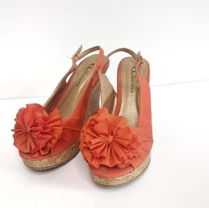 CL by Laundry Orange Wedges